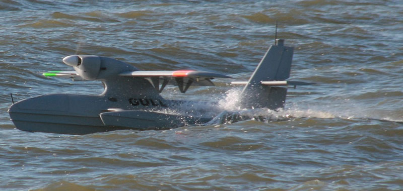 GULL UAV validating hull and configuration for manned Ocean seaplanes